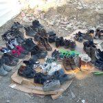 Réfugiés Syrie Lesvos Grèce Chaussures