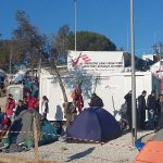 Doctors without borders in Moria, Lesvos, Greece