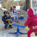 Refugees kids playing in Moria, Lesvos