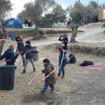 Kids playing in Moria, Lesbos