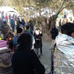 Arrival of refugees at Moria camp in Lesvos, Greece