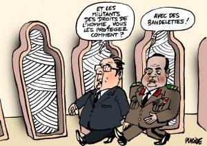 dessin droits de l'homme en Egypte
