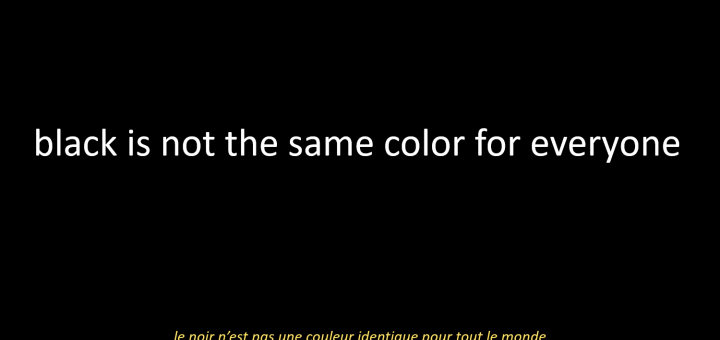black is not the same color