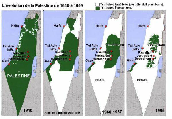Carte de la Palestine