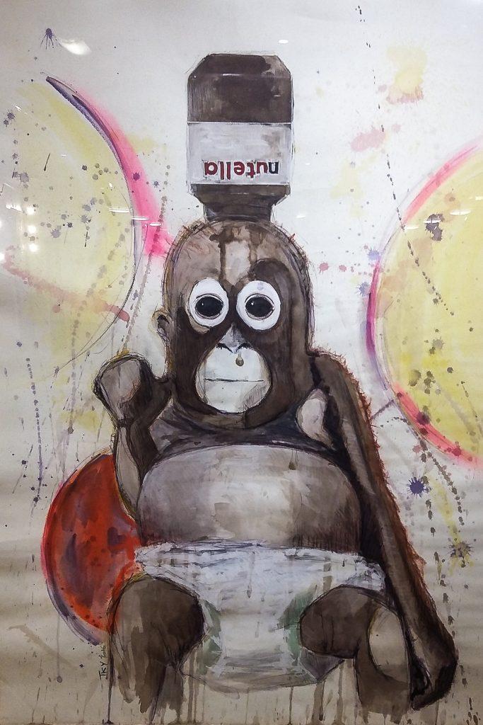 tableau d'artiste nutella