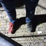 Chaussures, réfugiés, Syrie, Moria, Lesvos, Grèce