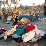 vêtements, Lesvos, Grèce, réfugiés, Syrie, Moria